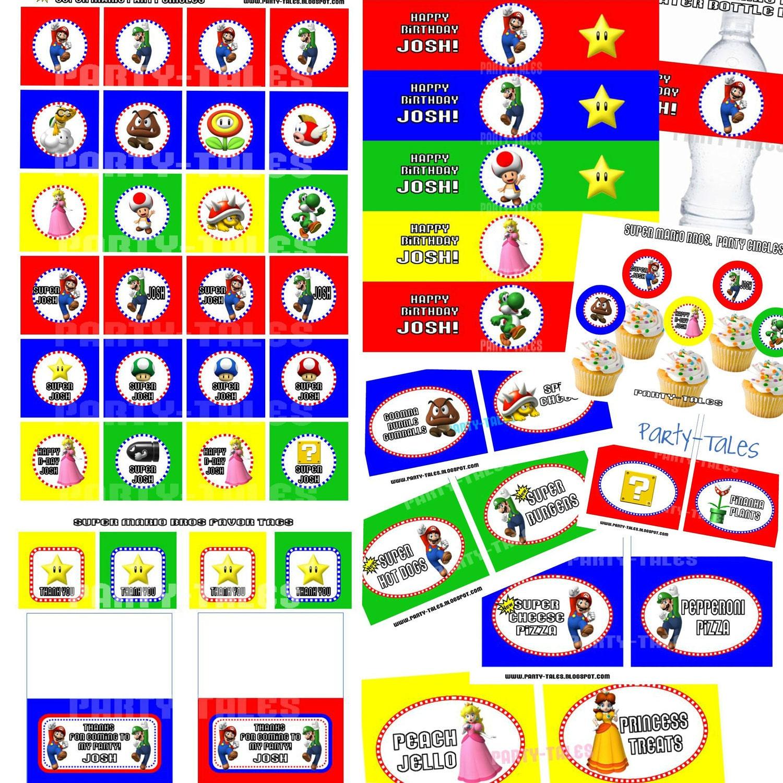 Items similar to Super Mario Bros COLLECTION wii Party circles Cupcake ...