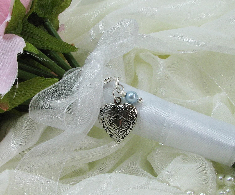 Bridal Bouquet Locket Charm : Heart locket bouquet charm bridal by