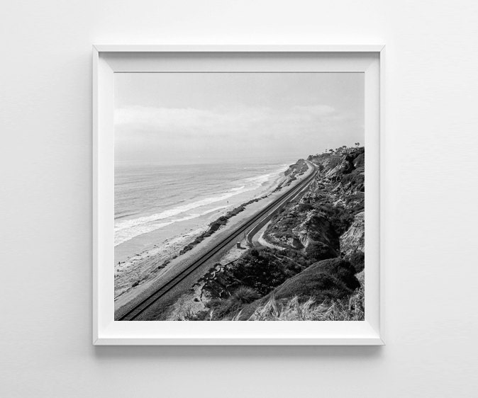 Black and white square wall art beach home by for 5x5 frames ikea