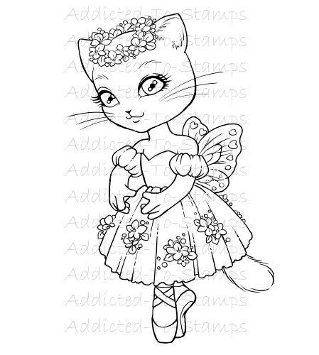 2 kitty ballerina colouring pages page 3 - Kitty Ballet Coloring Pages