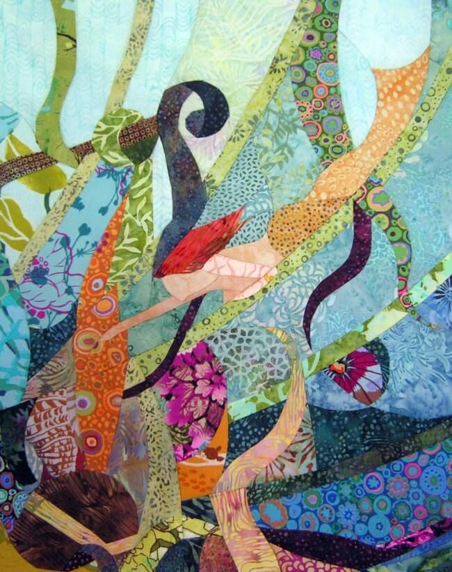 Little Mermaid - Quilt Fabric Art