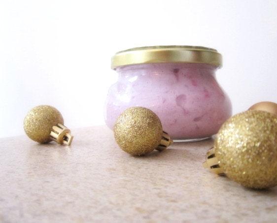 Sugar Plum Fairy Foaming Dead Sea Salt Scrub -  with Organic Shea Butter  - 10 oz - BOSSGirlsInc
