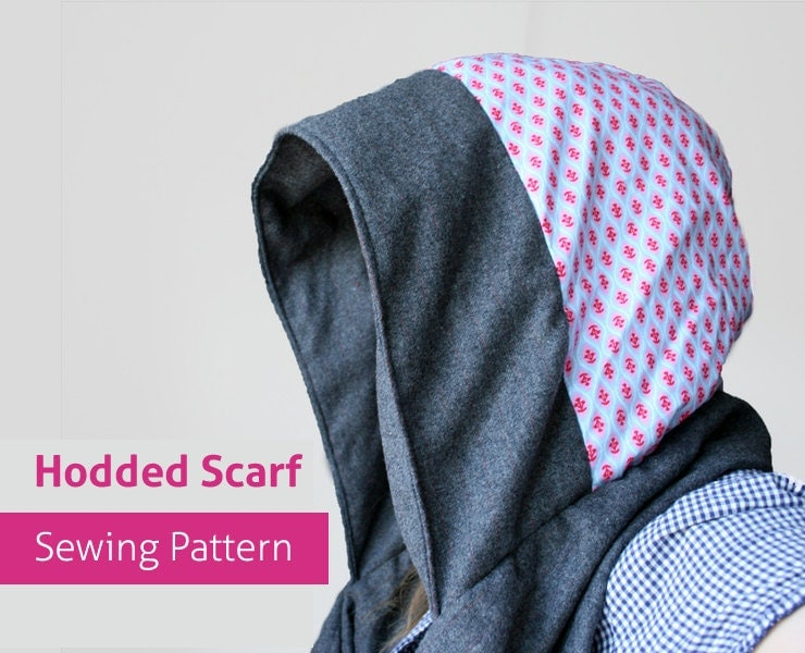 hooded scarf: NEW 854 HOODED SCARF SEWING PATTERN