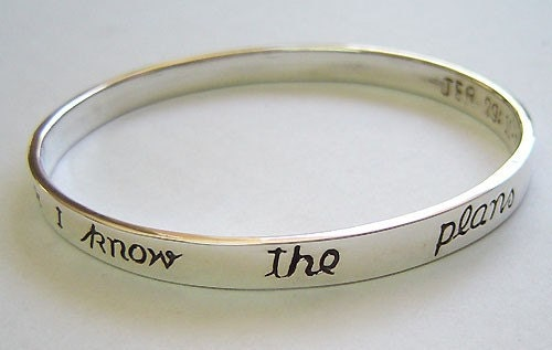 sterling silver bible scripture bangle bracelet by hhhdesigns
