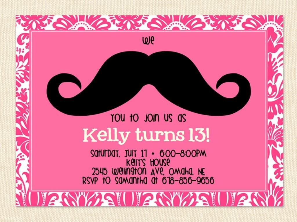 Mustache Invite is awesome invitations design