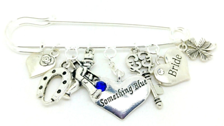 Something Blue Bride Charm Pin Chimney Sweep Angel Dress Flipflop Wedding Gift Hen Party Keepsake