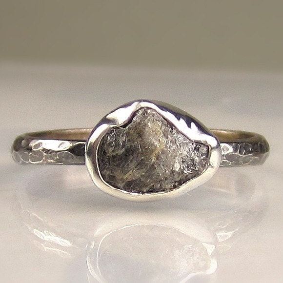 natural rough uncut diamond engagement ring by artifactum