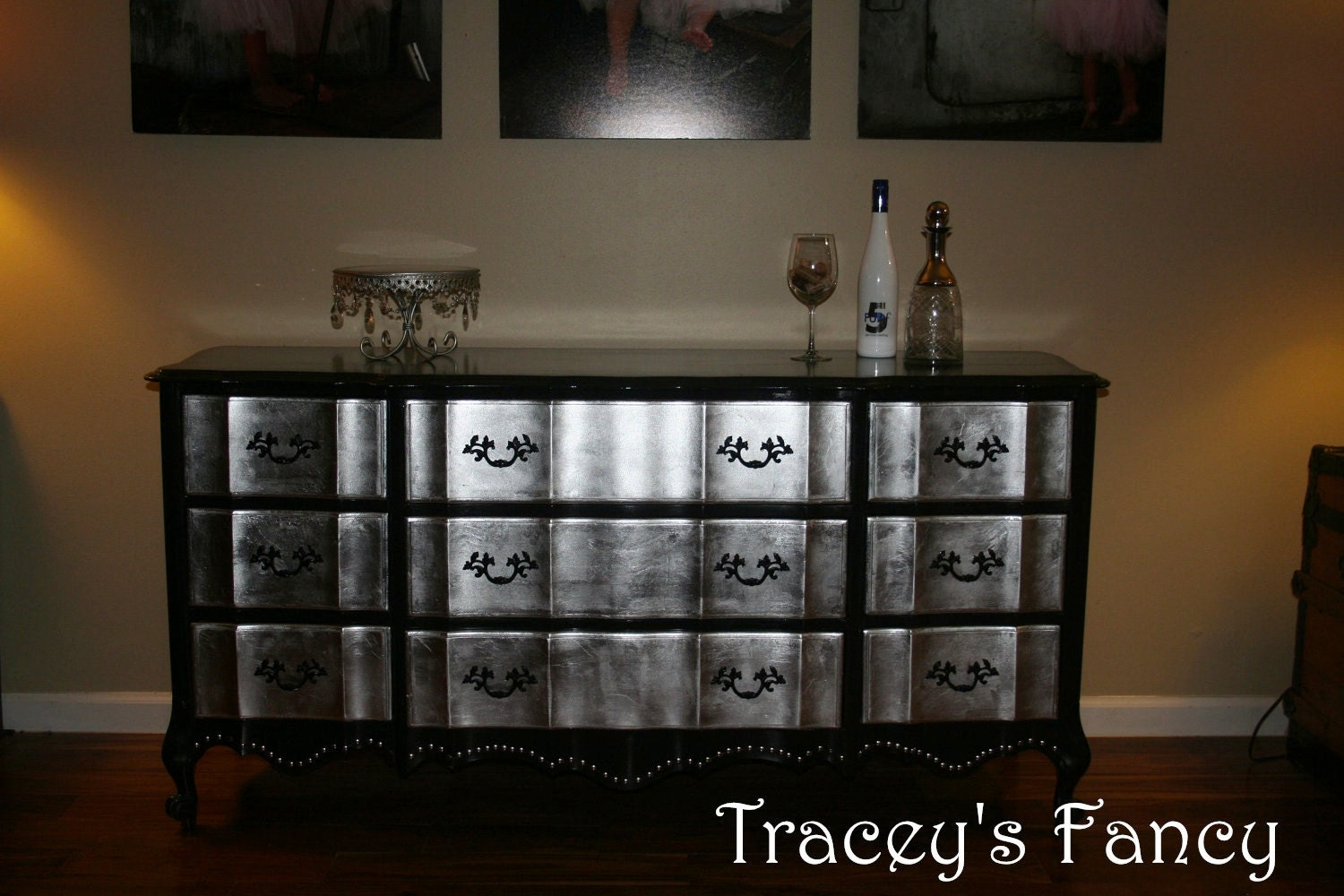 Items Similar To French Provincial Silver Leaf Dresser Made To Order On Etsy