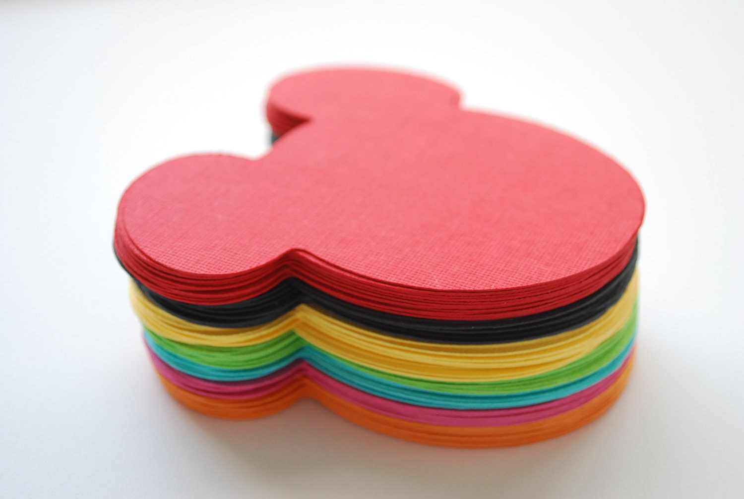 21 Mickey Mouse die cut (4 x3.75 inches) in Rainbow colors (7 Colors) A257