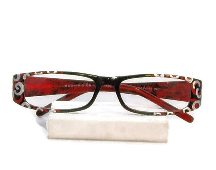 reading glasses 100 strength silver swirl by starality