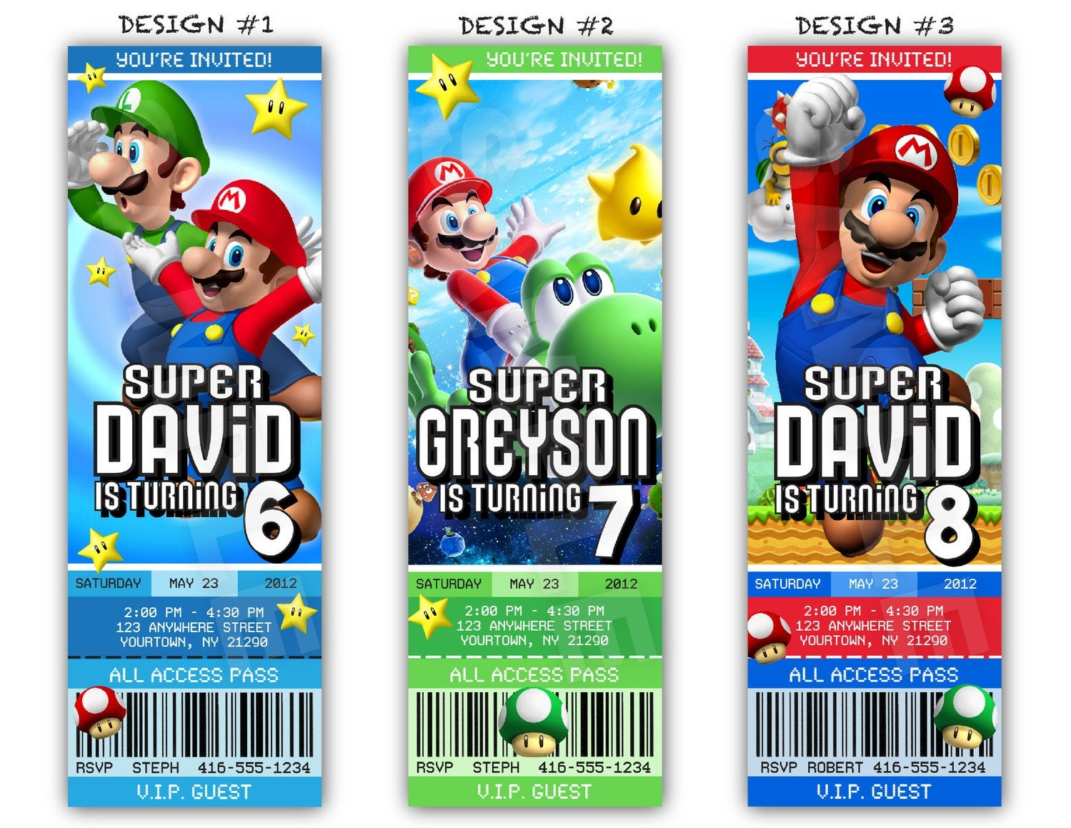 Mario Birthday Invitations is one of our best ideas you might choose for invitation design