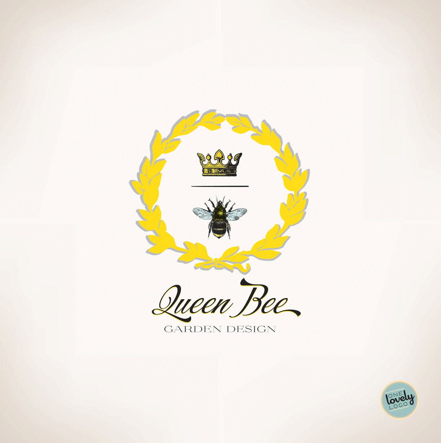 Premade Vector Logo Queen Bee OOAK by OneLovelyLogo on Etsy