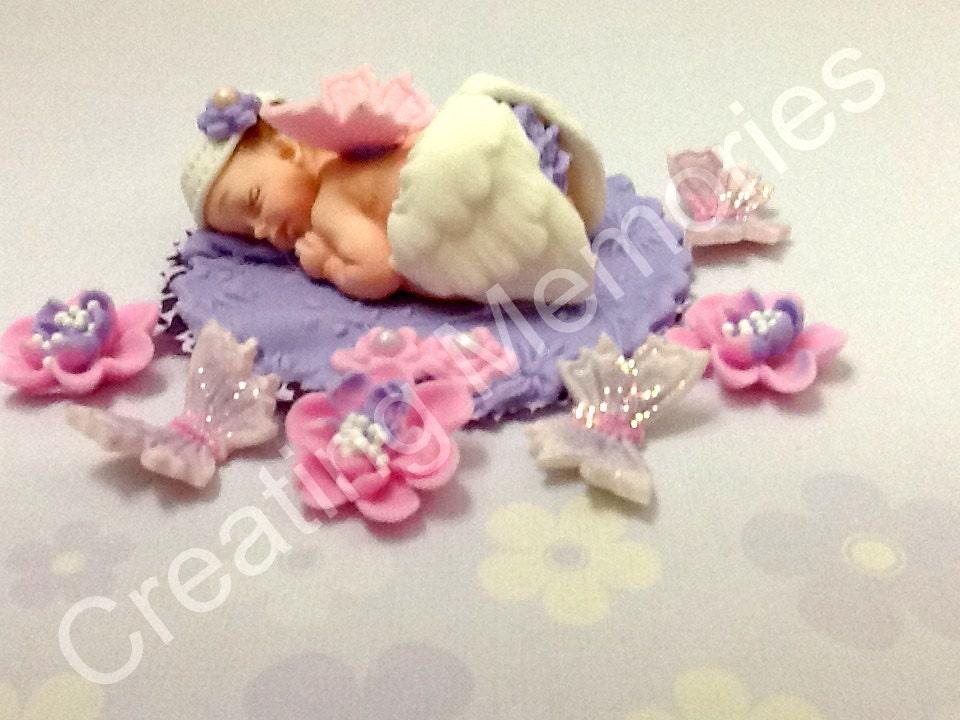Cake Topper Baby Angel Cake Topper BABY SHOWER Edible Cake Topper