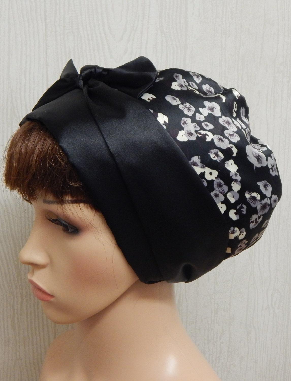 Silky head scarf bonnet womens satin hair wrap Jewish head snood Muslim head covering summer head wrap cap satin surgical head wear