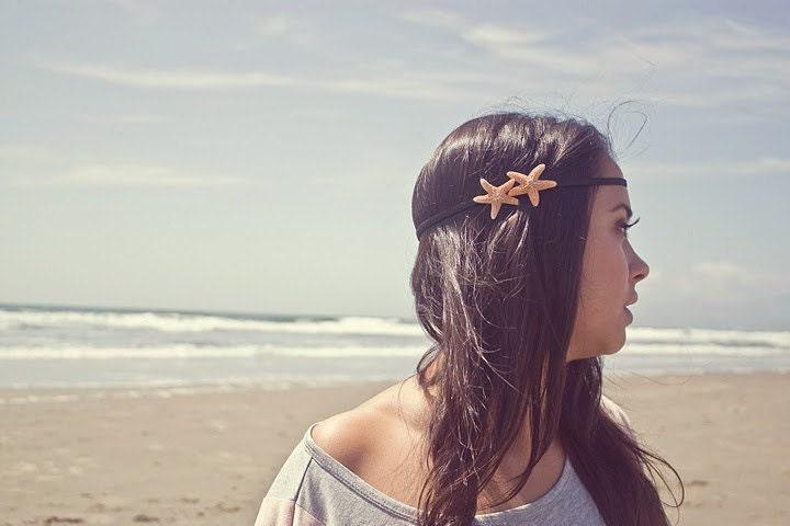 Double Starfish Headband Starfish Hair Accessories Mermaid Hair Accessories Beach Hair Accessories Cute Adorable Romantic Whimsical Dreamy - dreamsbythesea