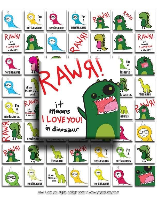 Cartoon Rawr Dinosaur