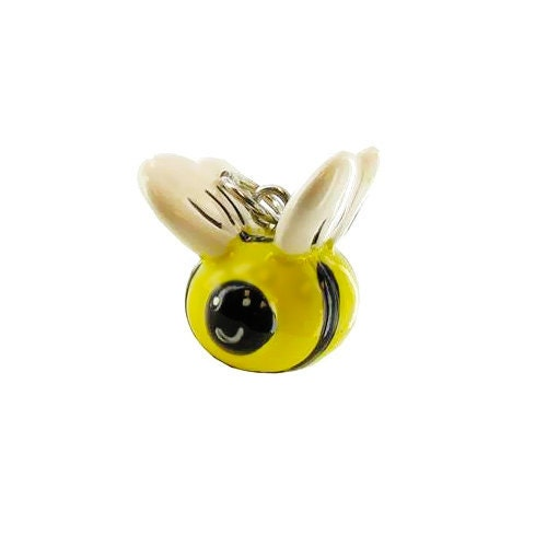 3-D Hand Painted Resin Bumble Bee  Charm, Qty 1 - PerpetualRevolution
