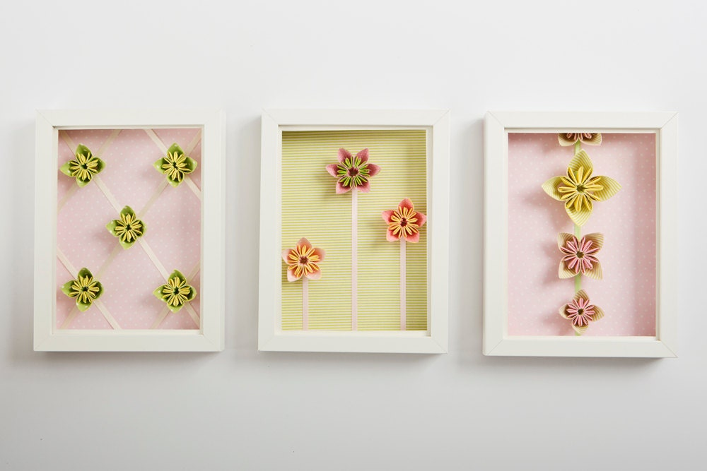 Origami Flower Wall Decorations D Gifts Framed Art - oukas.info