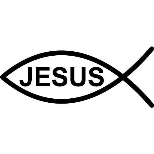 Jesus fish symbol medium vinyl wall decal sticker by for Jesus fish symbol