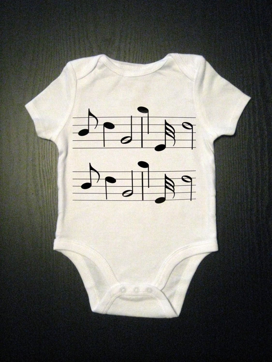 Items Similar To Music Notes Baby Onesie Kids Clothes