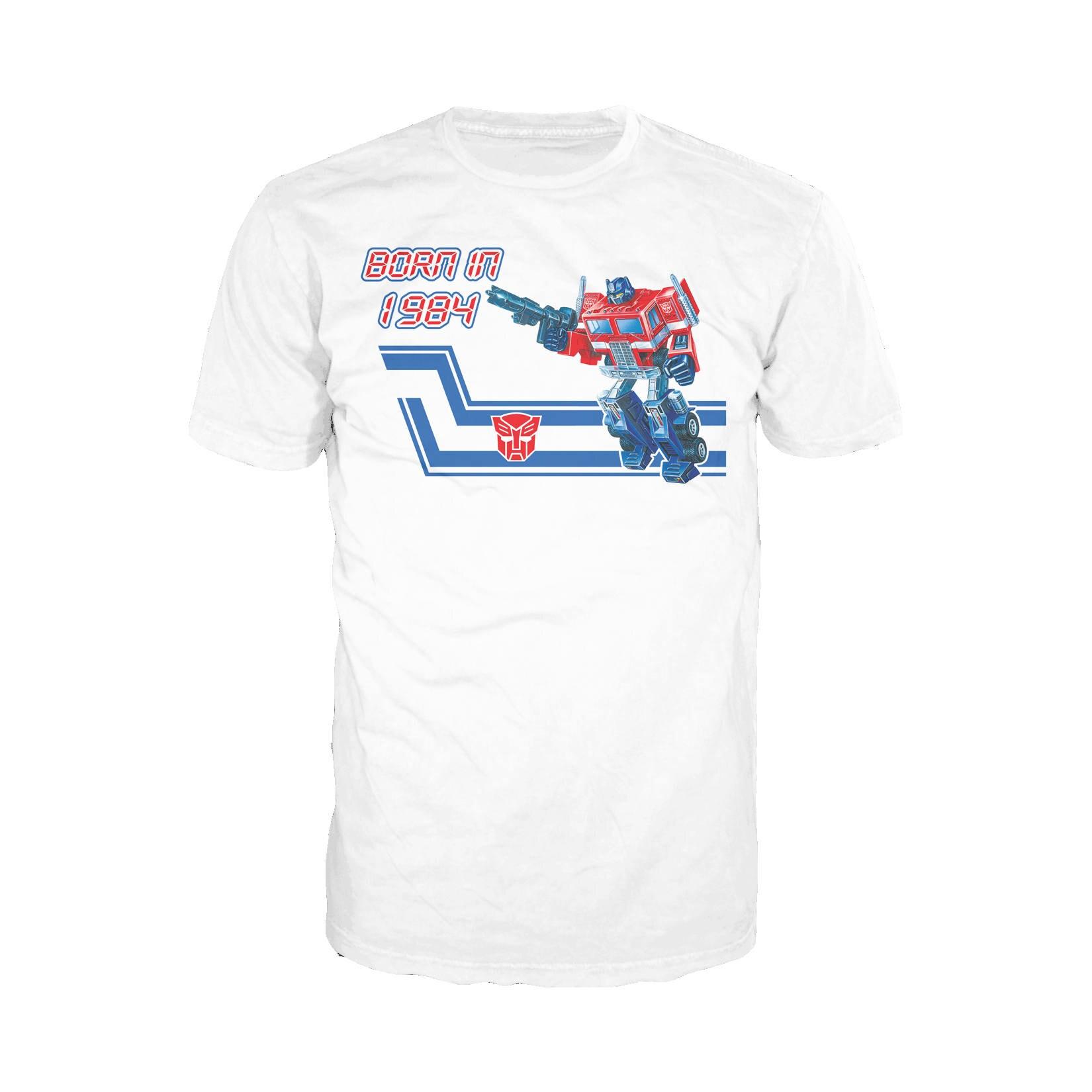 Transformers Born In 1984 Official Hasbro Mens Tshirt (White)