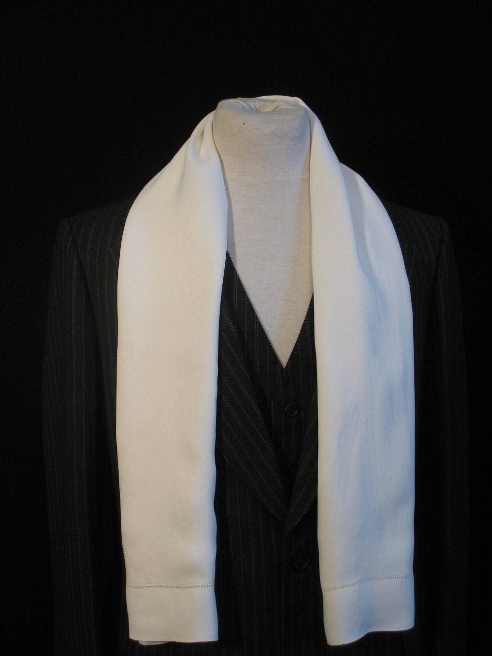 vintage 30s mens white silk crepe opera formal by