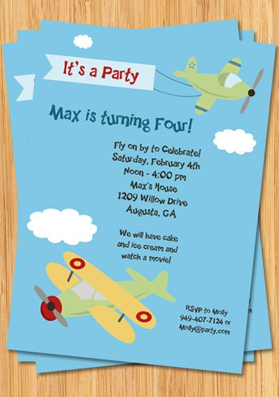 Airplane Birthday Invitations absolutely amazing ideas for your invitation example
