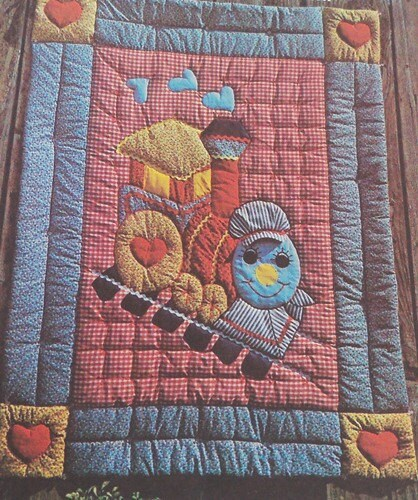 Choo-Choo Train Baby Quilt Pattern by KattysHouse on Etsy
