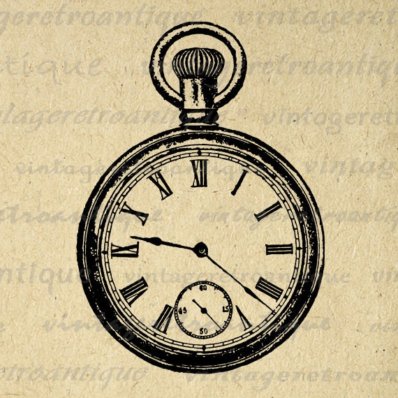 Classic Antique Pocket Watch Digital Image by ...