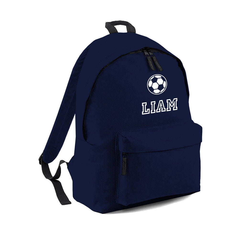 Personalised Football Bag Name Backpack with ANY NAME Kids Children Nursery School Student Rucksack