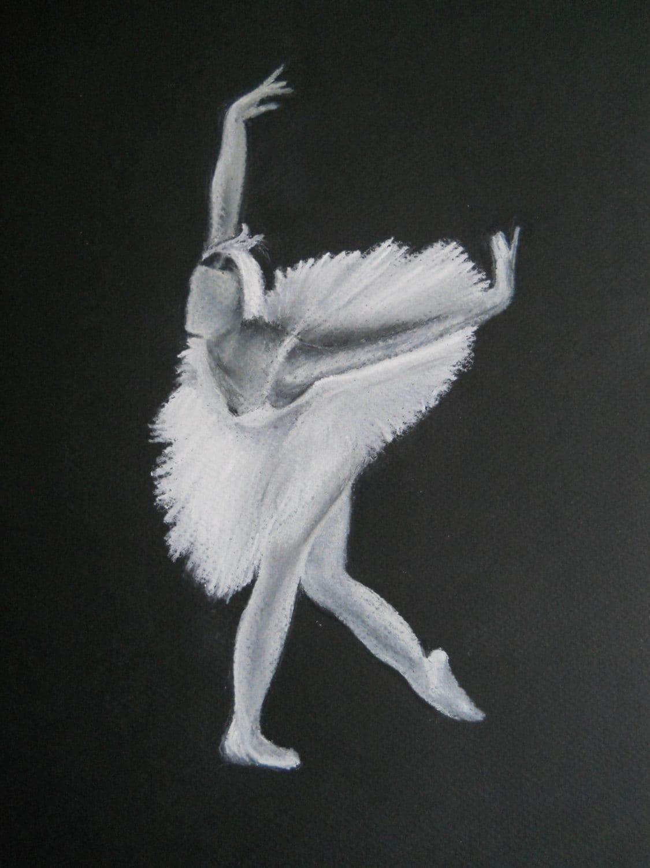 "original pastel painting from the ballet ""swan lake"" - DoningtonArt"