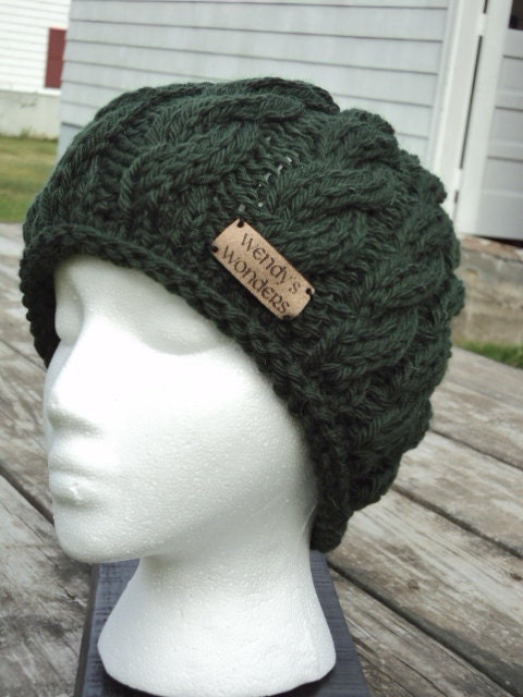Winter Cable Hat, wool
