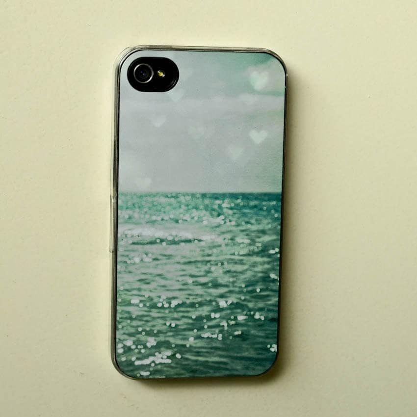 hipster iphone case . Sea of Happiness .aqua summer beach photography . coastal. dreamy . turquoise phone cover . heart . nautical sea ocean - joystclaire