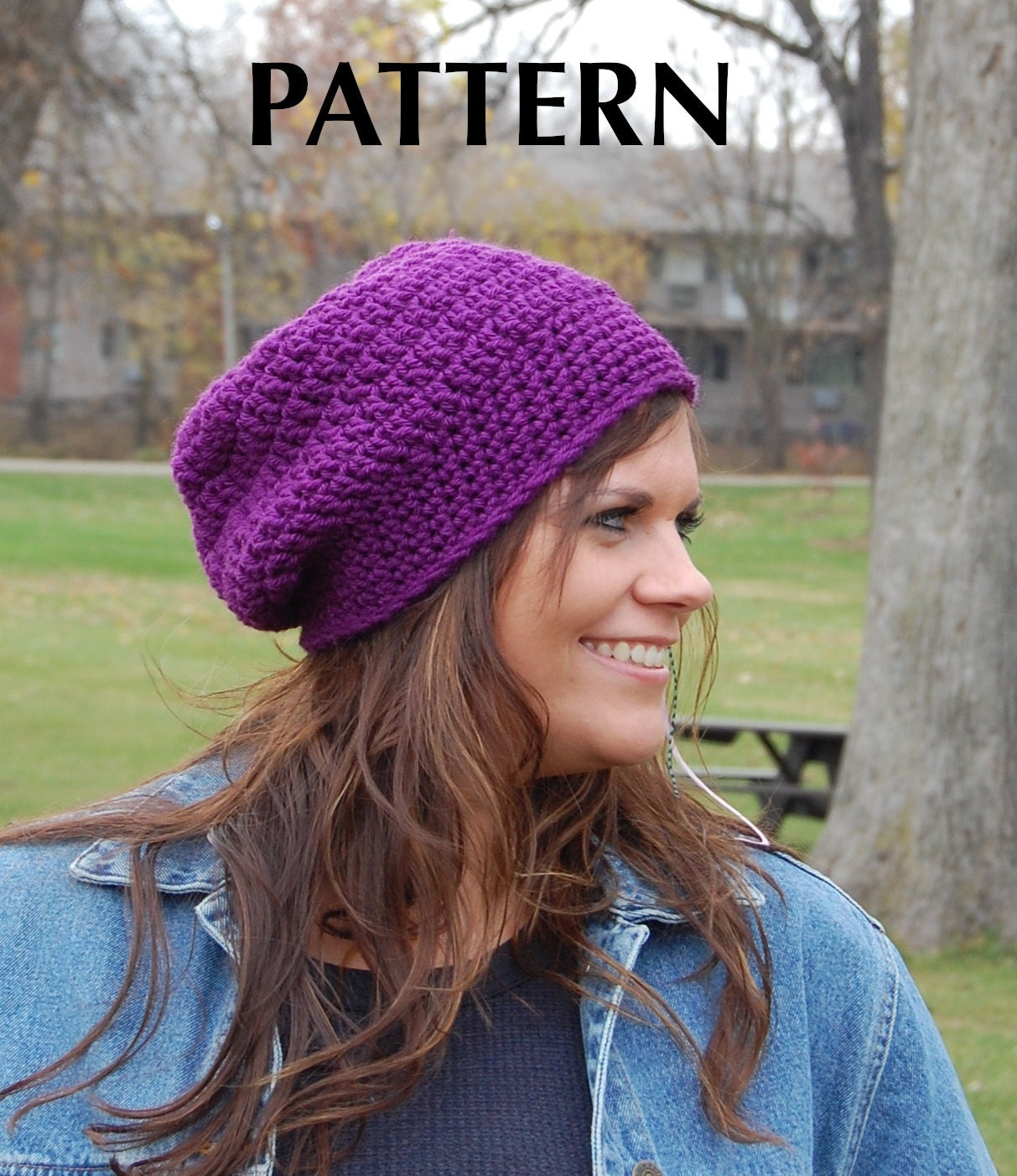 Free Crochet Hat Patterns To Download : Items similar to Simply Basic Slouchy Hat Pattern, Slouchy ...