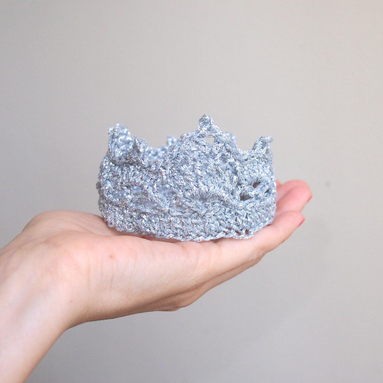 Crochet Flower Girl Crown Tutorial : PDF crochet PATTERN crown / tiara baby prop royal by ...