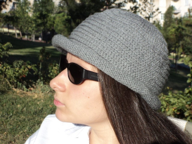 Sale, Wool hat, handmade hat, gray hat. Accessories. Stylish design for you. Ready to shipping. - beyazdukkan