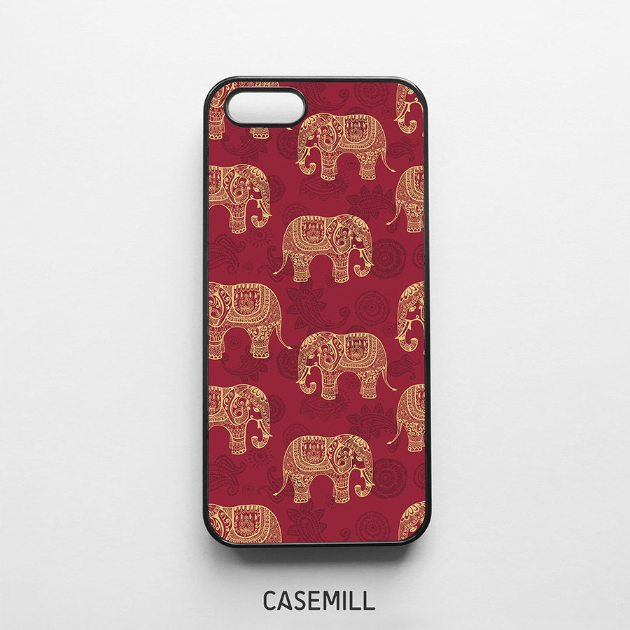 Red Elephant Pattern iPhone 6 Case iPhone 6s Case iPhone 6 Plus Case iPhone 6s Plus Case iPhone 5s Case iPhone 5 Case iPhone 5c Case