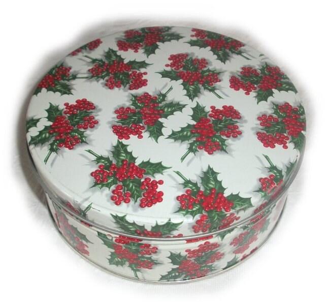 similar to Charming VINTAGE COOKIE TIN - Antique Christmas Pointsettia ...