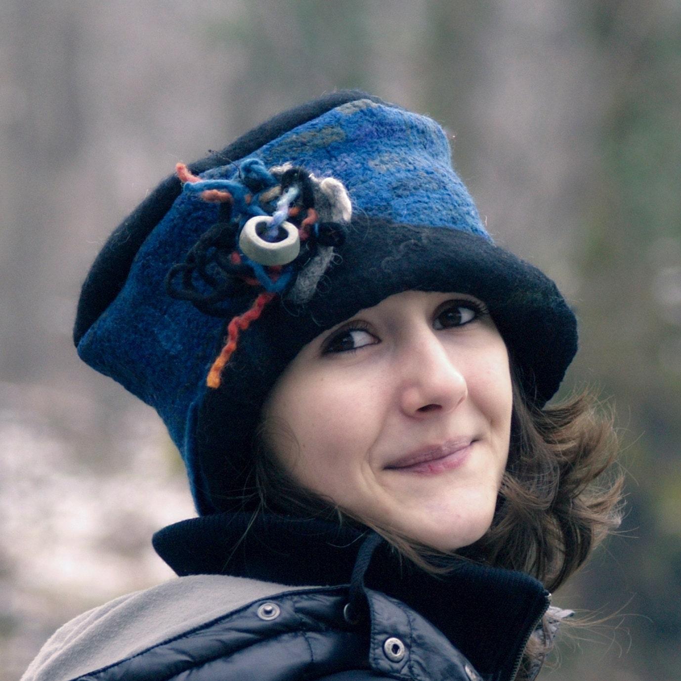 unique handmade felt hats womens winter felt wool hat by