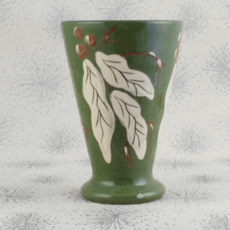 Leaf and Berry Ceramic Vase  Green Vase  Gift Woman Lady Her  Decorators Item  Deco Home   Leaf and Berry Vase  Green Barum Vase