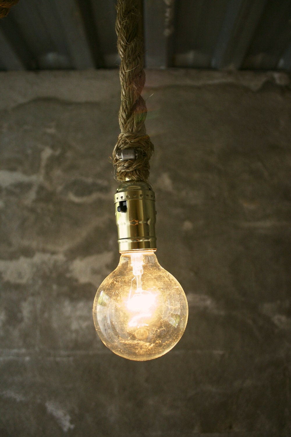 Items similar to chandelier lighting hanging light rustic decor shabby chic industrial light - Hanging bulb chandelier ...