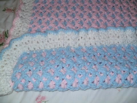 Double Sided Crochet Baby Blanket Pattern : No 76 Baby Springtime Double Sided Crochet Pattern by ...
