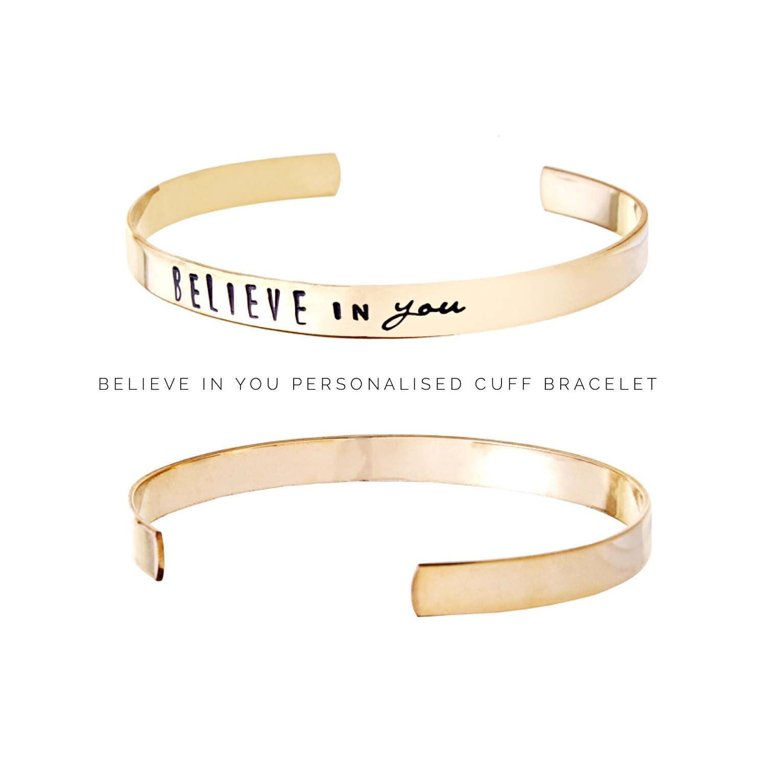 Womens gift  Personalized jewelry  Believe in you  Personalized Bracelet  Gift ideas for her  Gifts for friends (C178)