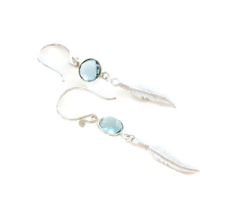 Light Blue Earrings Long Drop Earrings Long dangle Sterling Silver Blue Dangle Earrings Aquamarine Earrings Gemstone Earrings Blue Jewelry
