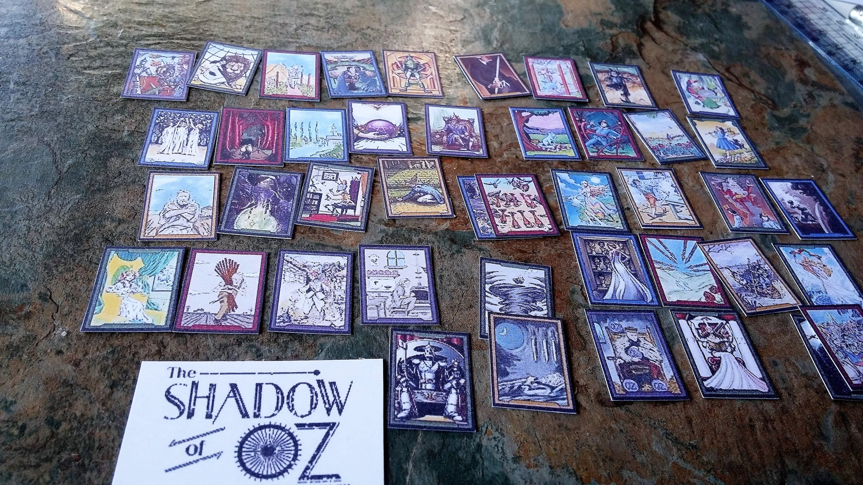 Shadow Of Oz 78 Miniature Tarot Cards, Dolls House Tarot Cards, Tarot Cards, Dolls House Accessories, Miniature Accessories, Dolls Accessories