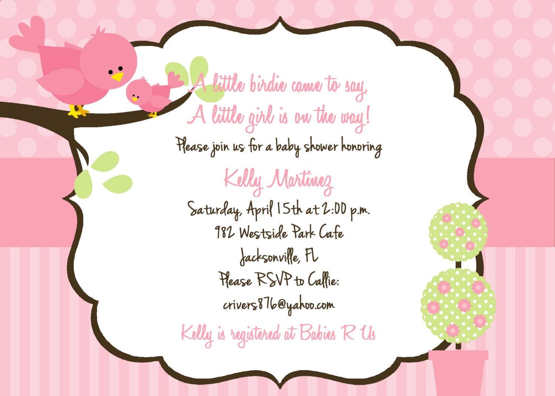 Bird Baby Shower Invitations and get inspiration to create nice invitation ideas