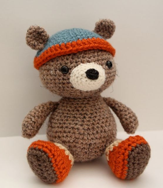 Amigurumi Bears Patterns : Amigurumi Crochet Pattern Bernie Bear by littlemuggles on Etsy
