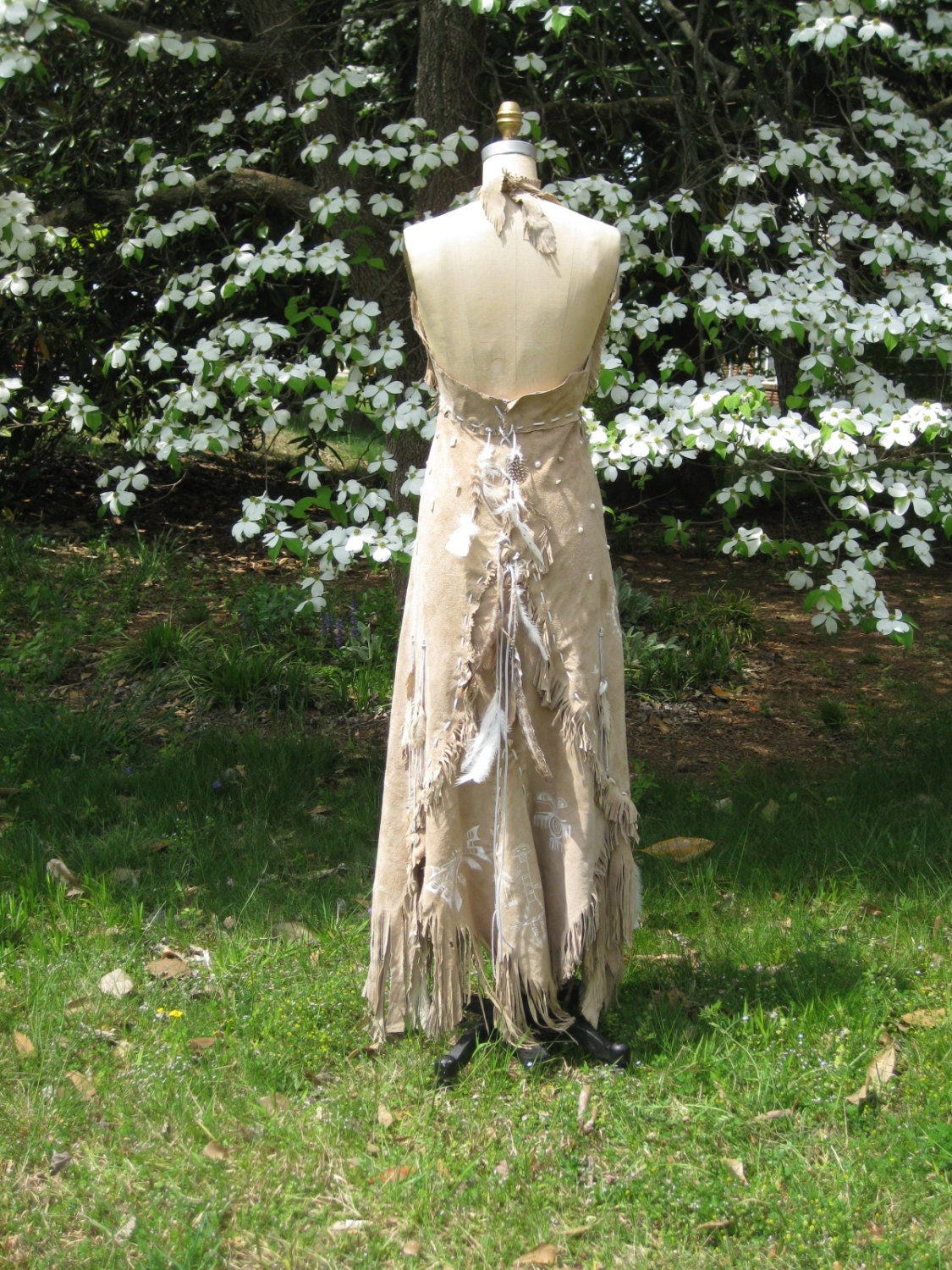 Leather Wedding Dress Native American Inspired By Hippiebride