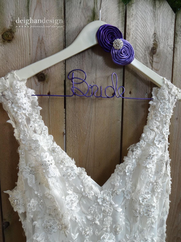 Bride hanger bridal hanger wedding dress hanger by for Custom hangers for wedding dress