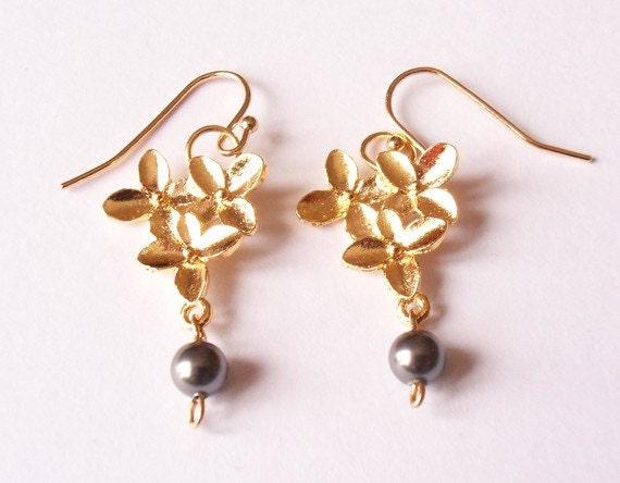 Boucles doreilles perles, boucles doreilles, boucles doreilles pendantes, boucles doreilles Swarovski, boucles doreilles de porter tous les jours par
